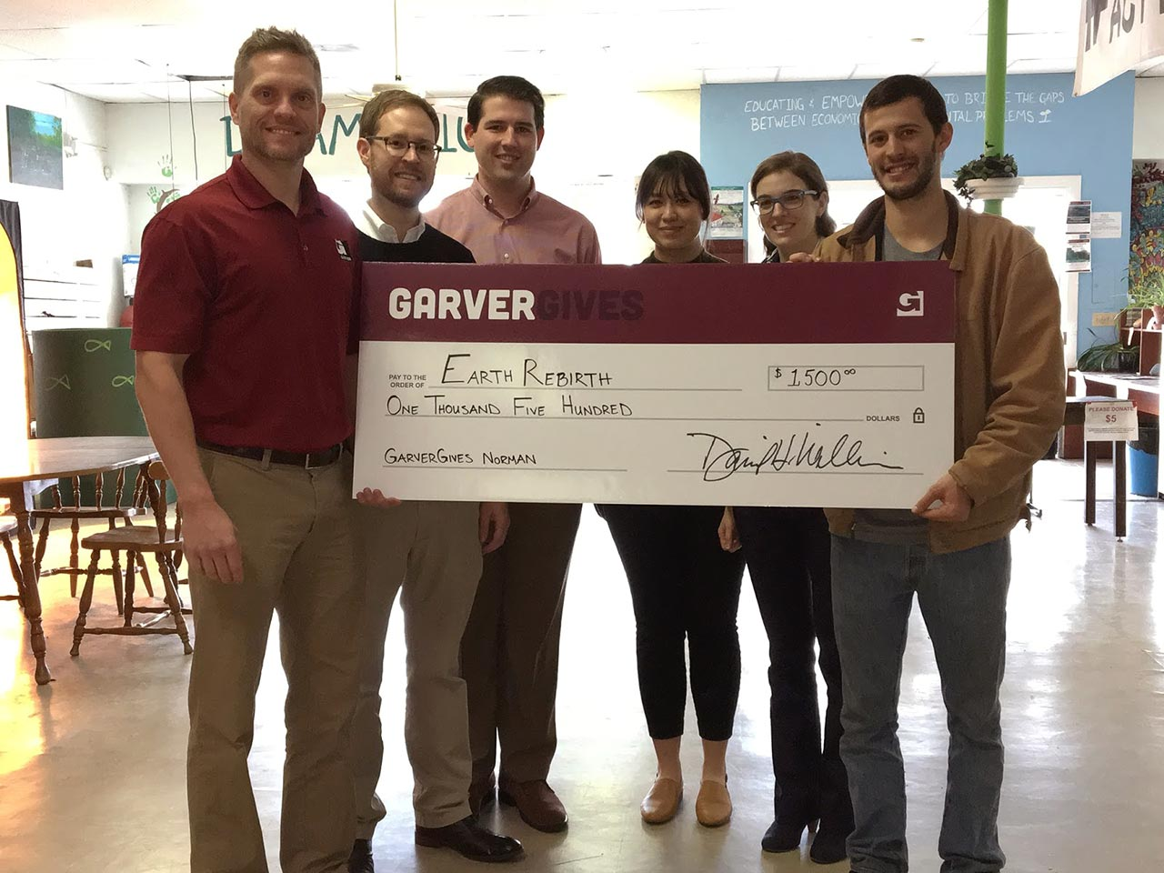 GarverGives donation aids school garden program