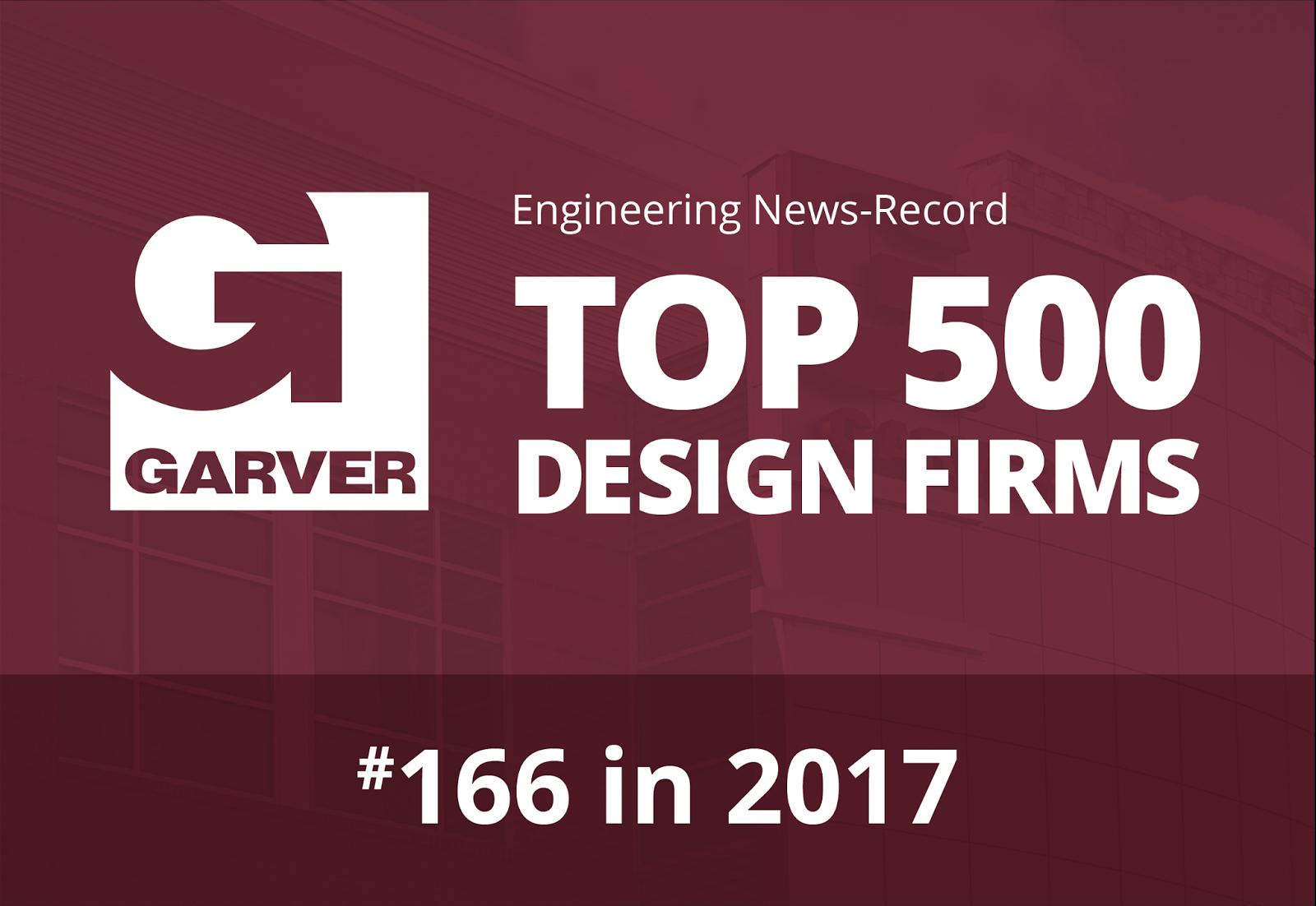 Garver now No. 166 on ENR Top 500