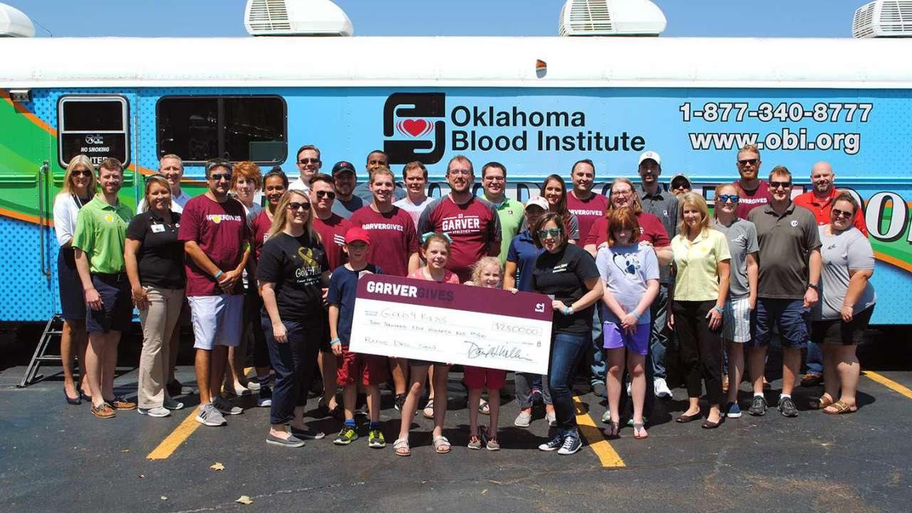 Garver event aids Tulsa blood collector, cancer foundation