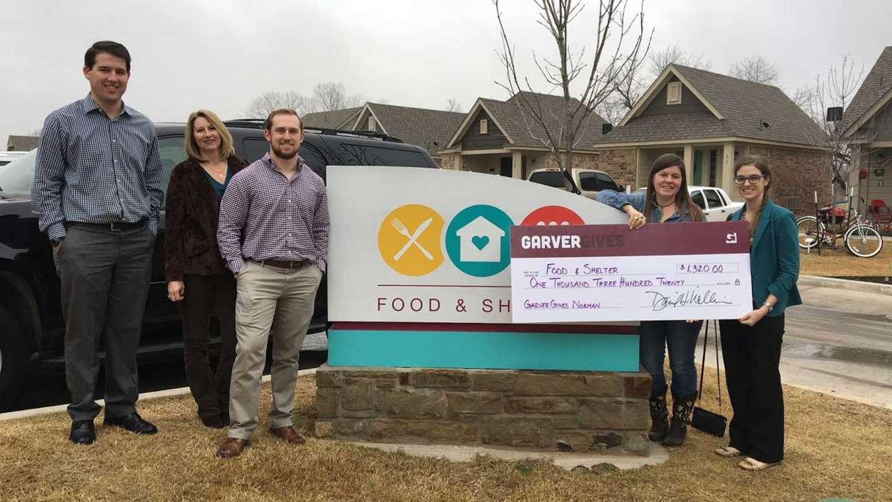 Garver donation aids Oklahoma homeless shelter
