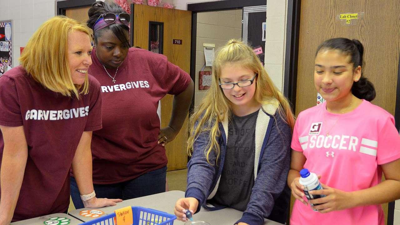 GarverGives aids middle school