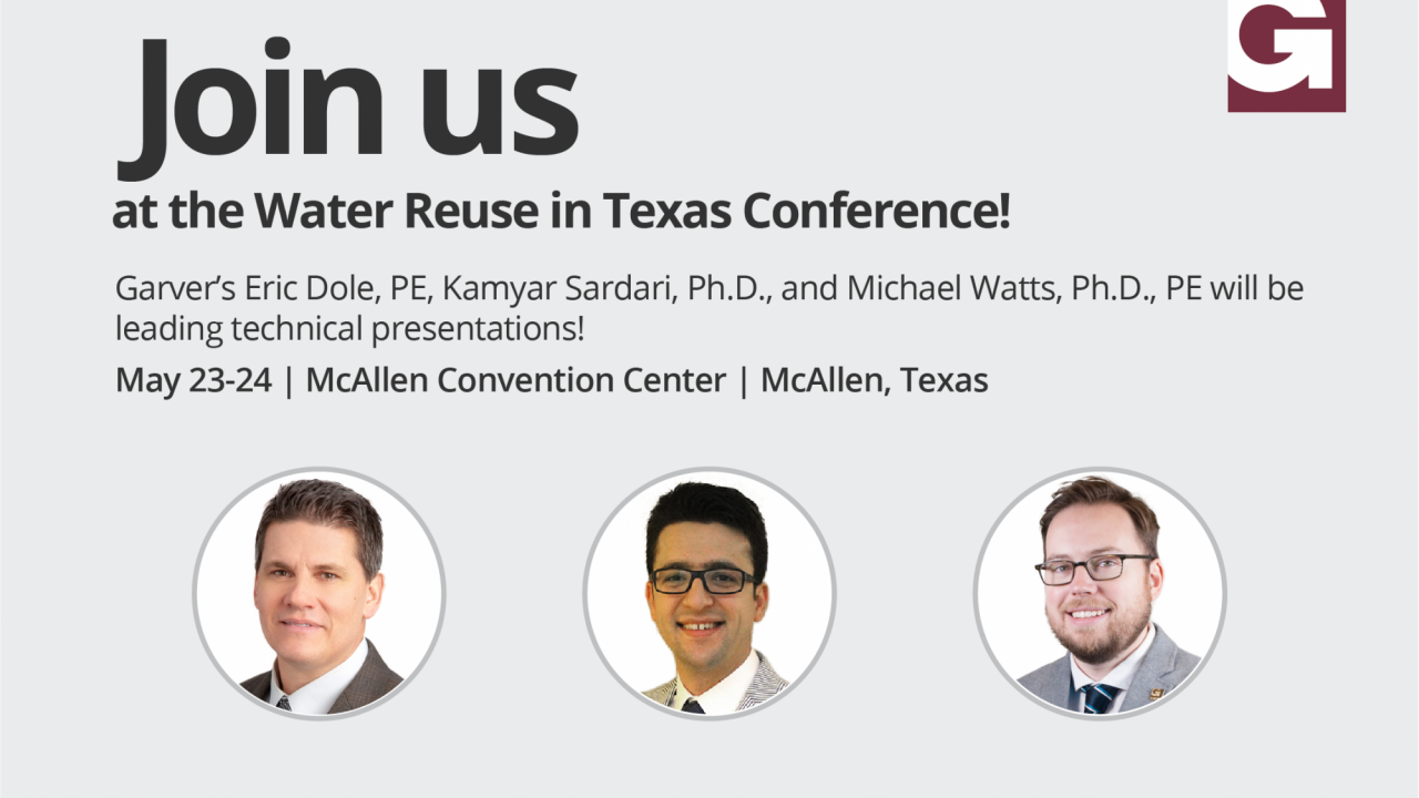 Garver to present at Water Reuse in Texas Conference