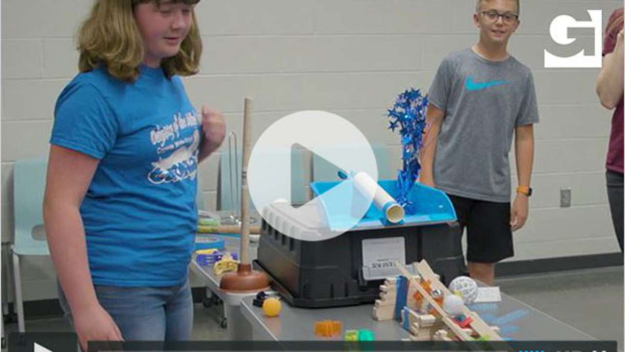 Creekside Middle School takes on Garver Chain Reaction Challenge