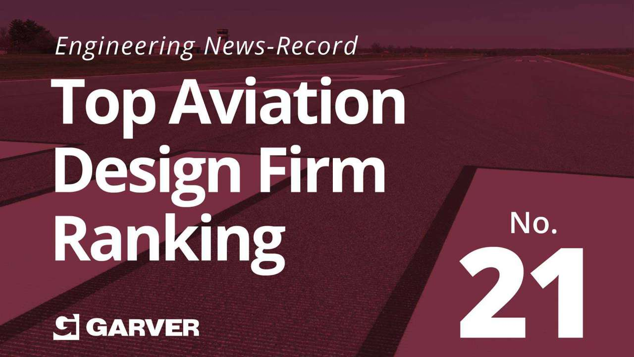 Garver recognized by ENR as leading aviation design firm