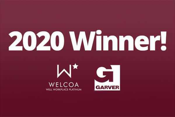 WELCOA names Garver a Platinum Well Workplace