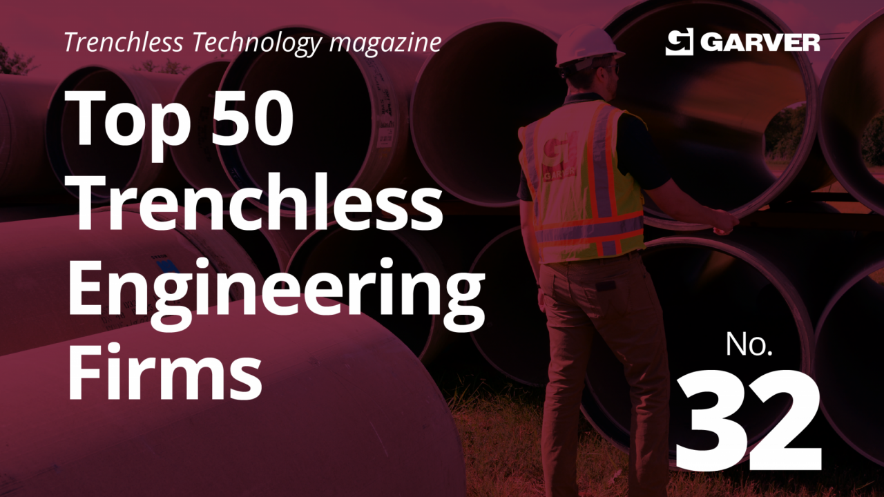 Garver named to Top 50 Trenchless Engineering Firms list