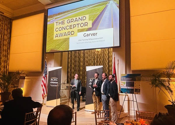 XNA taxiway reconstruction named Grand Conceptor by ACEC of Arkansas
