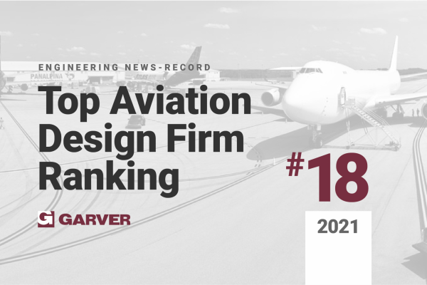 Garver recognized by ENR as a top 20 aviation design firm