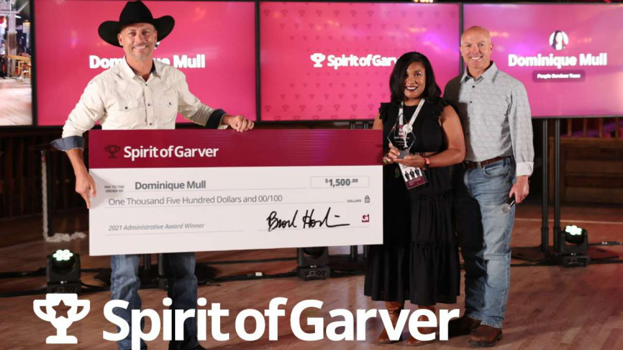 Three honored with Spirit of Garver Awards