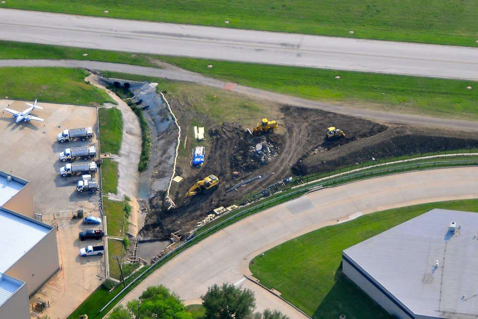 Aggressive construction strategy maintains operations at busy airport
