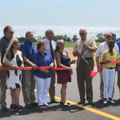 SYI Shelbyville Municipal Runway Reconstruction ribbon cutting