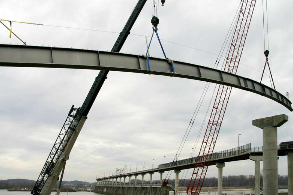 New approach added to iconic pedestrian bridge